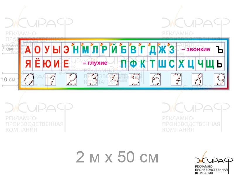 Таблица лента букв 1 класс